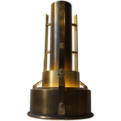 Danish Midcentury Nautical Brass Pendant Light, 1950s