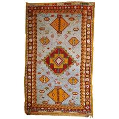 Handmade Antique Moroccan Berber Rug, 1910s, 1C438