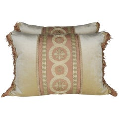 19th Century Embroidered Silk and Velvet Pillows by Melissa Levinson