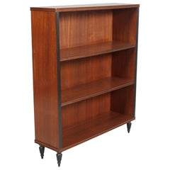 1930s Italy, Mid-Century Modern, Bookcase in Walnut and Mahogany Wax-Polished