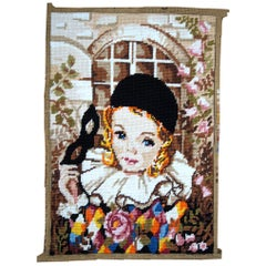 Handmade Vintage French Tapestry, 1980s, 1C603