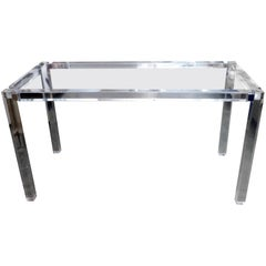 Charles Hollis Jones Lucite Desk