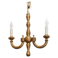Italian Simple,Small Giltwood Chandelier