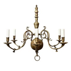 Vintage Georgian Style Chandelier with Wonderful Patina
