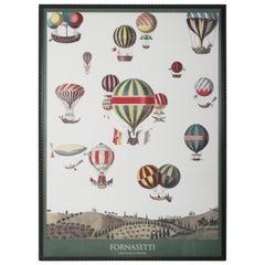 Piero Fornasetti 'Designer of Dreams' Hot Air Balloons Framed Poster