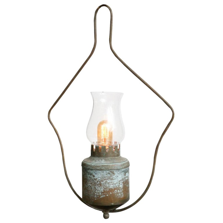 One-of-a-Kind Single Light Hall Lantern For Sale