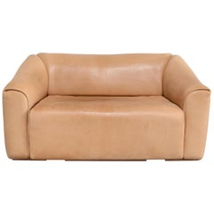 De Sede DS 47 Loveseat Neck Leather Sofa
