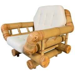 Vintage Bamboo Club Chair