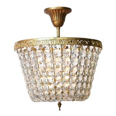 Classic French 1960s Flush Mount