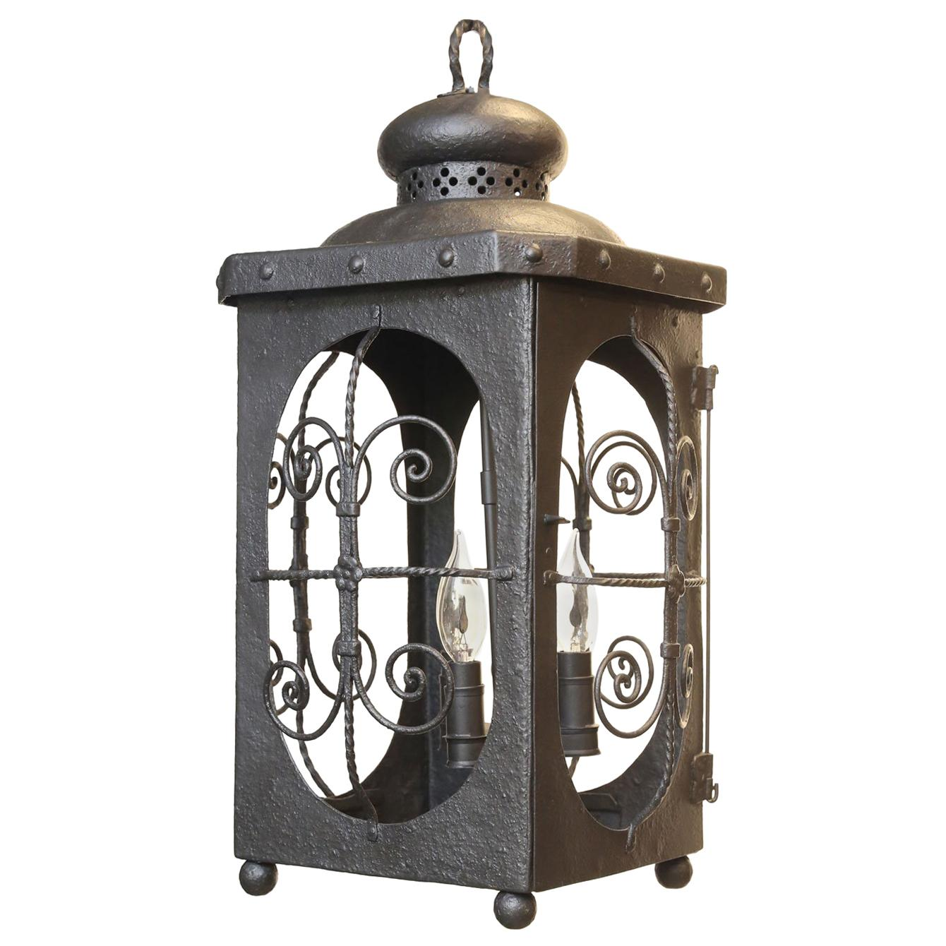 Antique Spanish Colonial  Iron Lantern