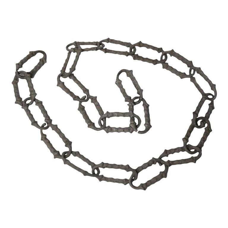 Rare 1920s Decorative Aluminum Chain For Sale