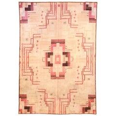 Pink Vintage Art Deco Rug