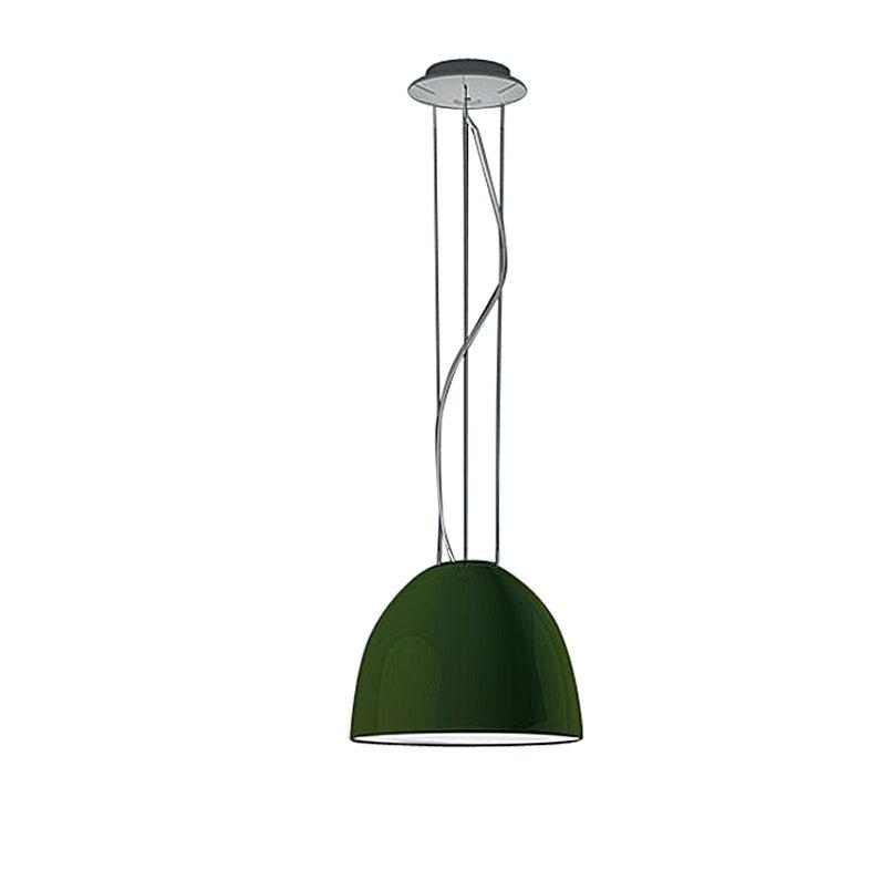 Artemide Nur Mini Suspension Light 100W E26/A19 in Gloss Green
