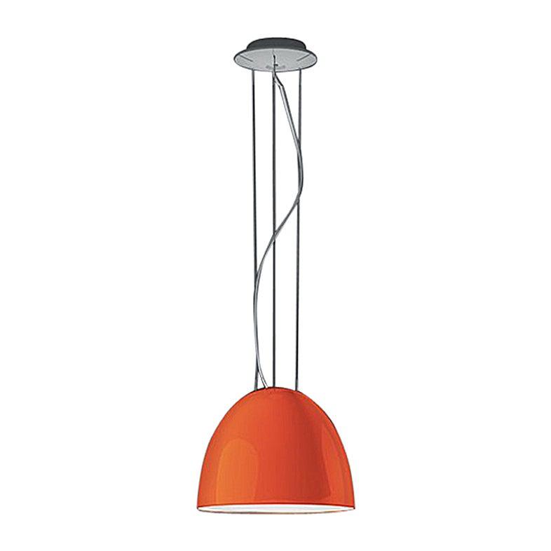Artemide Nur Mini Suspension Light 100W E26/A19 in Orange