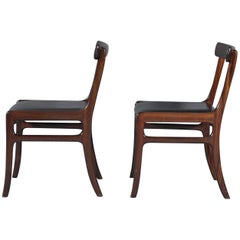 Set of Two Rungstedlund Chairs by Ole Wanscher for Poul Jeppesen Møbelfabrik