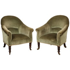Pair of Early 19th Century English Club Chairs