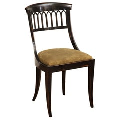 Mid-19th Century English, Black Lacquer Spoon Back Chair