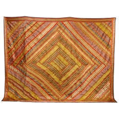 Late 19th Century Indian, Banana Silk Bedspread