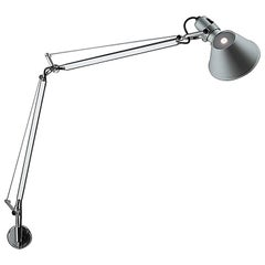 Artemide Tolomeo Classic TW Wall Light with S Bracket in Aluminum