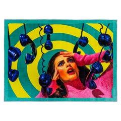 "Seletti ""Phone"" Rectangular Rug by Toiletpaper"