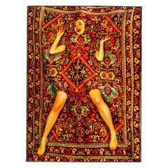 "Seletti ""Lady on Carpet"" Rectangular Rug by Toiletpaper"