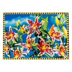 """Seletti """"Flower"""" Rectangular Rug by Toiletpaper"""