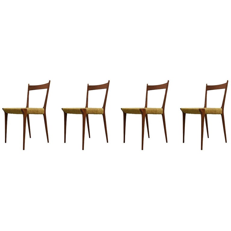 Set of 4 Teak S2 Dining Chairs by Alfred Hendrickx for Belform, 1960s For Sale