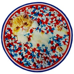 """Seletti """"Cat"""" Round Rug by Toiletpaper"""