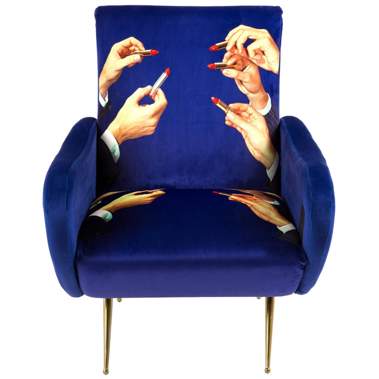 """Seletti """"Lipsticks"""" Upholstered Armchair by Toiletpaper Magazine For Sale"""