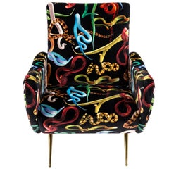 "Seletti ""Snakes"" Upholstered Armchair by Toiletpaper Magazine"