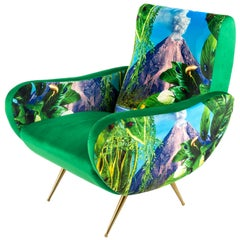 "Seletti ""Volcano"" Upholstered Armchair by Toiletpaper Magazine"