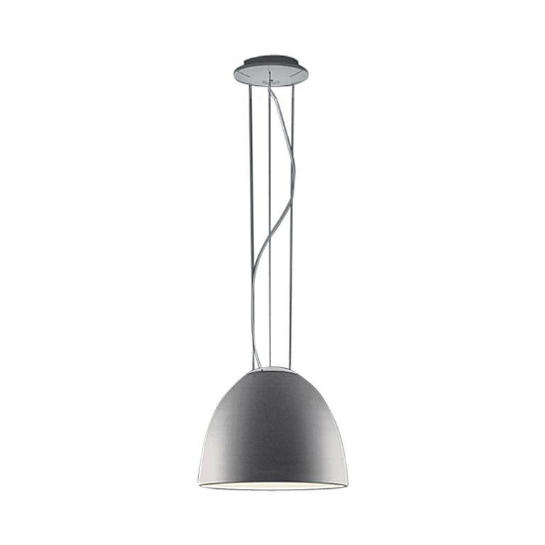 Artemide Nur Mini Suspension Light 100W E26/A19 in Aluminum For Sale