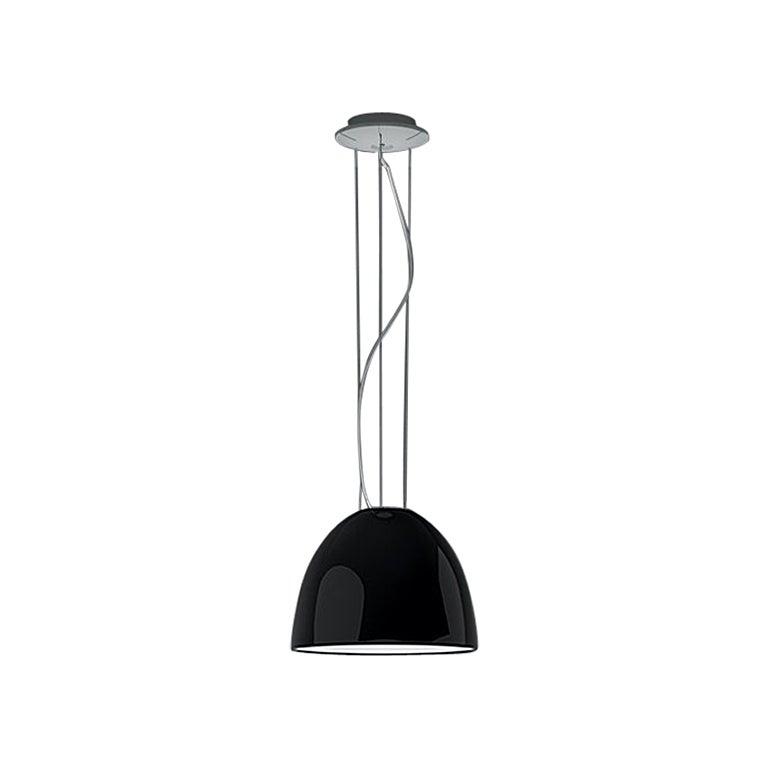 Artemide Nur Mini Suspension Light 100W E26/A19 in Gloss Black