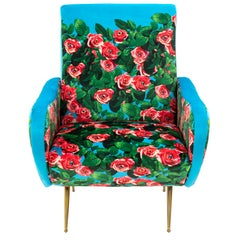 "Seletti ""Roses"" Upholstered Armchair by Toiletpaper Magazine"