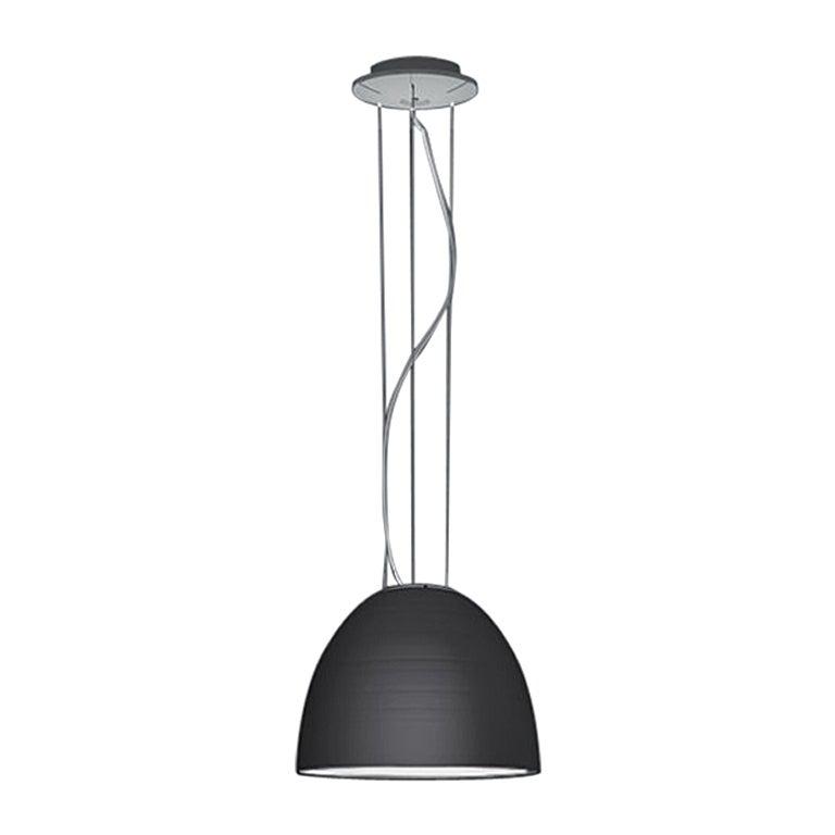 Artemide Nur Mini Suspension Light 100W E26/A19 in Anthracite Grey