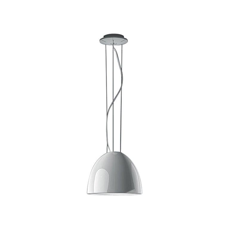 Artemide Nur Mini Suspension Light 100W E26 or A19 in Gloss White