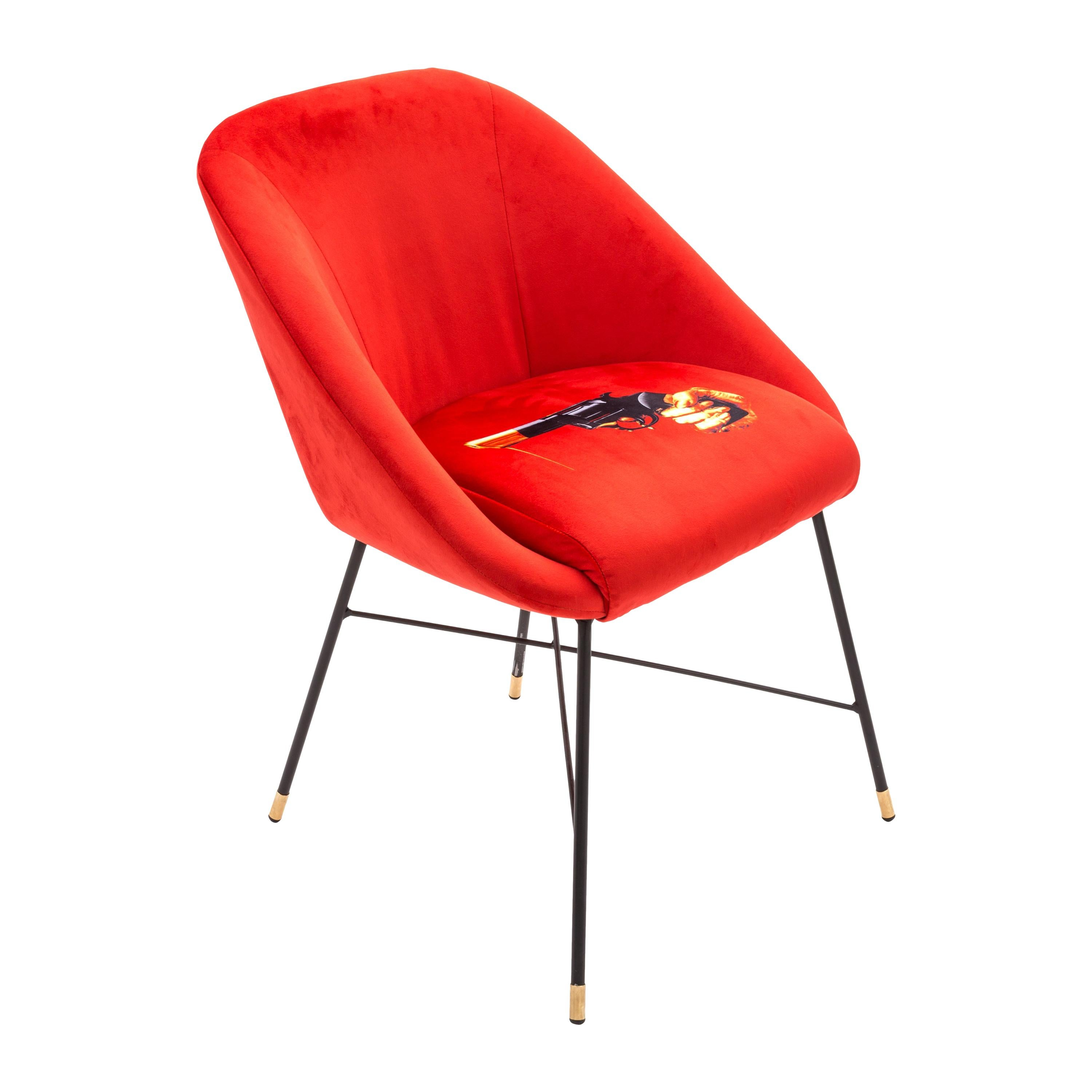 """Seletti """"Revolver"""" Upholstered Occasional Chair by Toiletpaper"""