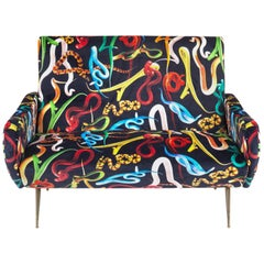 "Seletti ""Snakes"" Upholstered Two-Seat Sofa by Toiletpaper"
