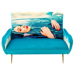 "Seletti ""Sea Girl"" Upholstered Two-Seat Sofa by Toiletpaper"
