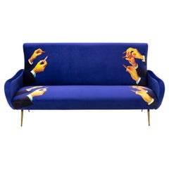 "Seletti ""Lipsticks"" Upholstered Three-Seat Sofa by Toiletpaper"