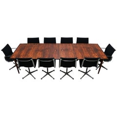Large Conference or Dining Table by Arne Vodder for Sibast in Rosewood, 1950s