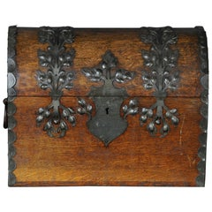 Antique Baroque Lid Chest or Table Chest Miniature, 18th Century