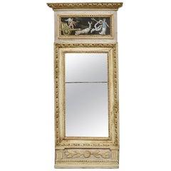 Gustavian Mirror with Gouaches, circa 1800