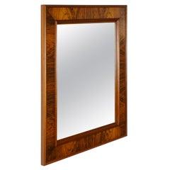 Danish Style 1960s Rectangular and Rosewood Mirror