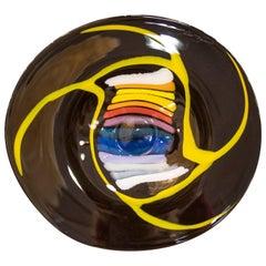 Mihai Topescu Black Blowing Glass Centerpiece, 2006, Signed