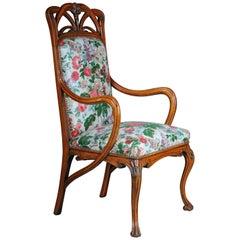 Beautiful Art Nouveau Armchair after L. Majorelle