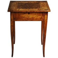 Classic Side Table Classicism, circa 1810 Ash, Inlaid