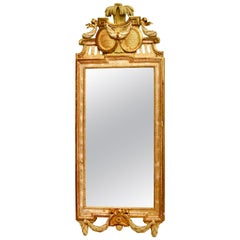 Gustavian Mirror, Giltwood by Johan Åkerblad, 18th Century
