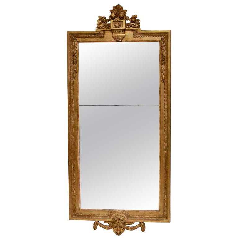 Gustavian Mirror, Giltwood, 18th Century For Sale