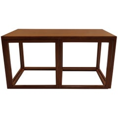 Set of 1950s Danish Aksel Kjersgaard, Denmark Qube Tables Nest of 3 Cube Coffee